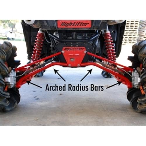 Спортивные задние нижние черные рычаги High Lifter для Polaris RZR-900(11-14)