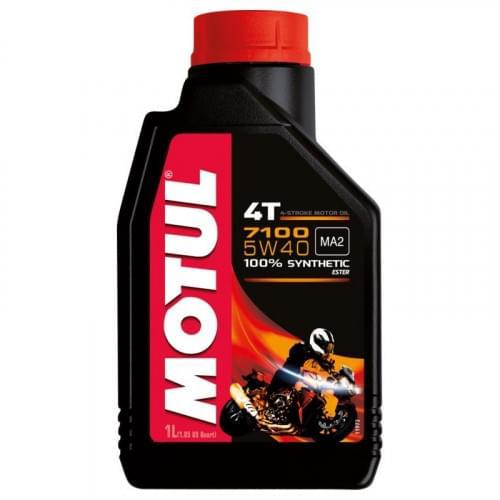 Моторное масло синтетическое Motul 7100 Ester 4T 5W40 (1 литр)